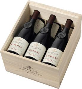 Delas - Coffret cadeau Caisse Bois - 6 Bouteilles - Chante Perdrix