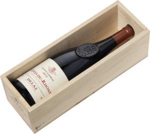 Delas - Coffret cadeau Caisse Bois - Magnum - St-Esprit millésimé