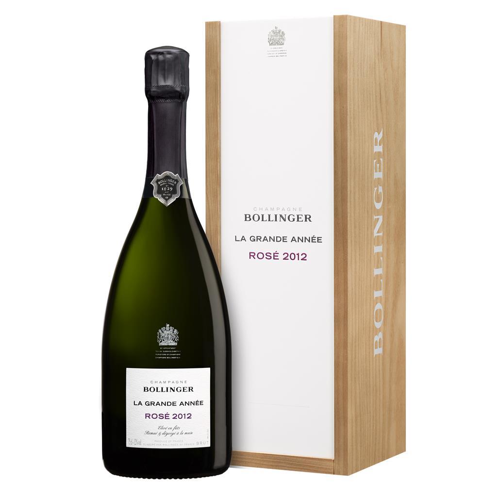 Champagne Bollinger La Grande année Rosé 2012 en coffret 75 cl
