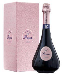Champagne de Venoge Princes Rosé Brut en étui