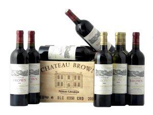 Coffret de vins de Bordeaux Château Brown blanc et rouge