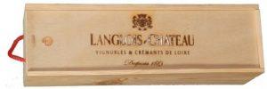 Caisse bois à tirette pour Jéroboam de Crémant Langlois-Château