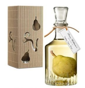 Coffret cadeau de la Poire Prisonnière, poire en liqueur Williamine